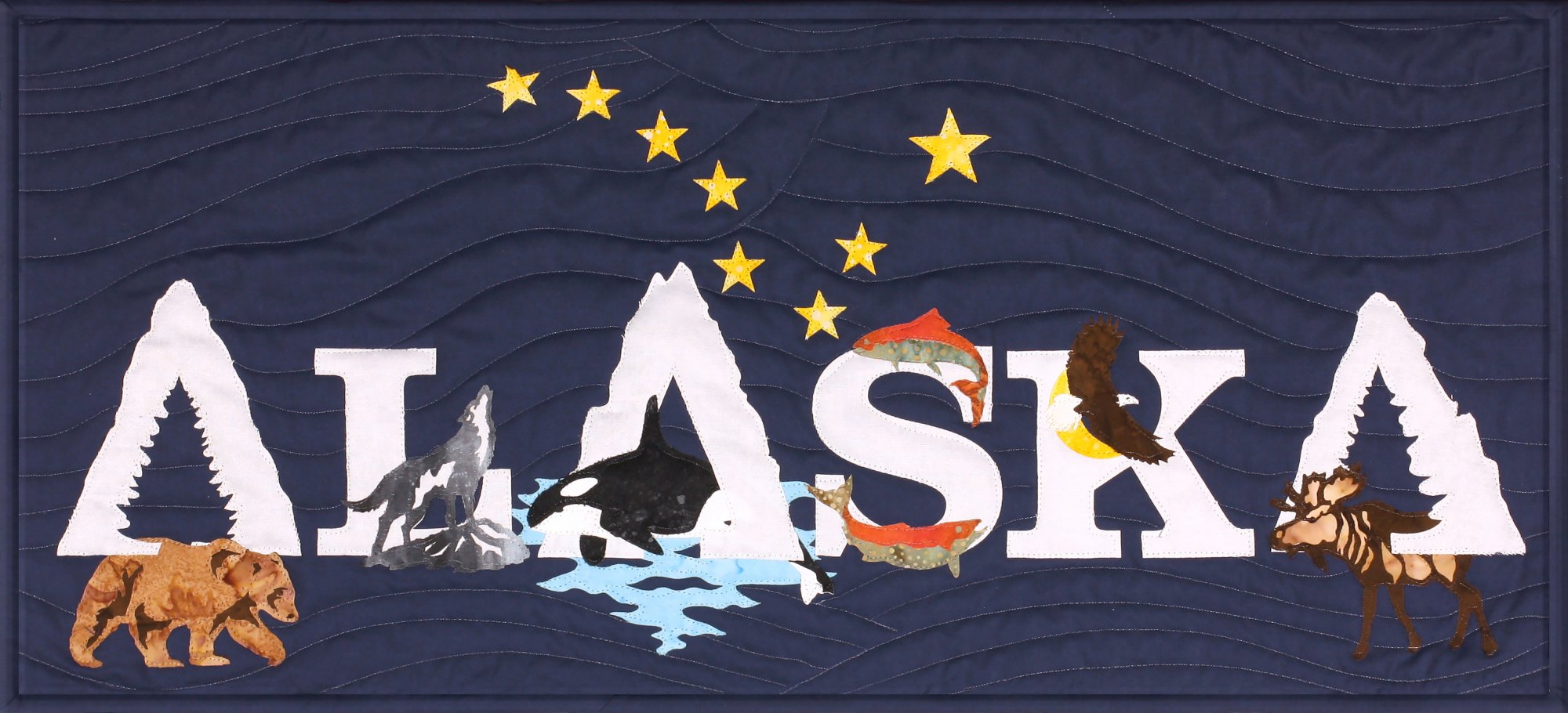 Alaska (Wild) Laser cut applique kit includes front and binding - SP-AKWD-1
