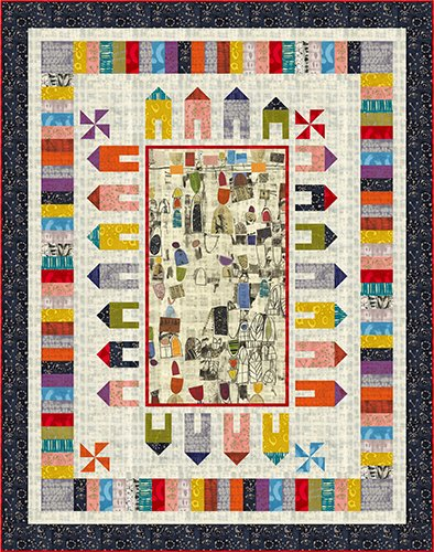 Around the Block Quilt Kit - Art History 101 by Marcia Derse - 50916QK
