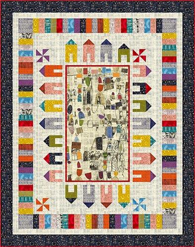 Around the Block Quilt Kit - Art History 101 by Marcia Derse - 50916QK