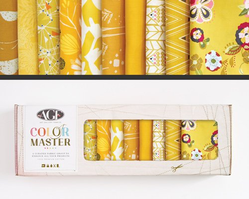 Gold Leaf Edition Color Master No. 5 - 10 Fat Quarters - 2.5 Yards - B-FQ-105