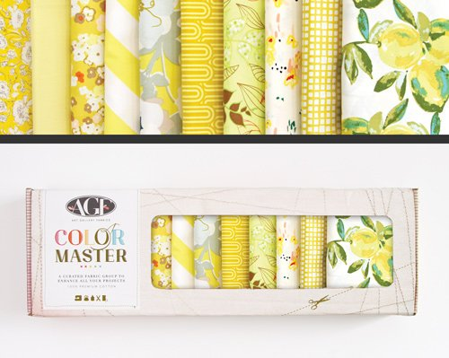 Lemon Green Edition = Color Master No. 6 - 10 Fat Quarters - 2.5 Yards - B-FQ-106