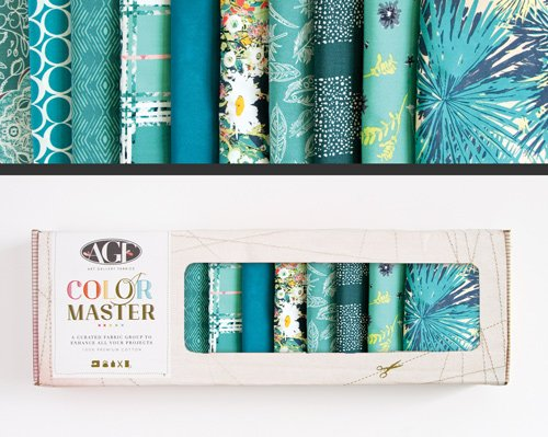 Teal Thoughts Edition -  Color Master No. 8 - 10 Fat Quarters - 2.5 Yards - B-FQ-108