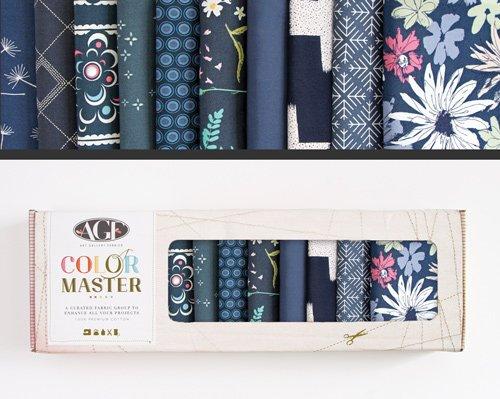 Midnight Ocean Edition -  Color Master No. 10 - 10 Fat Quarters - 2.5 Yards - B-FQ-110