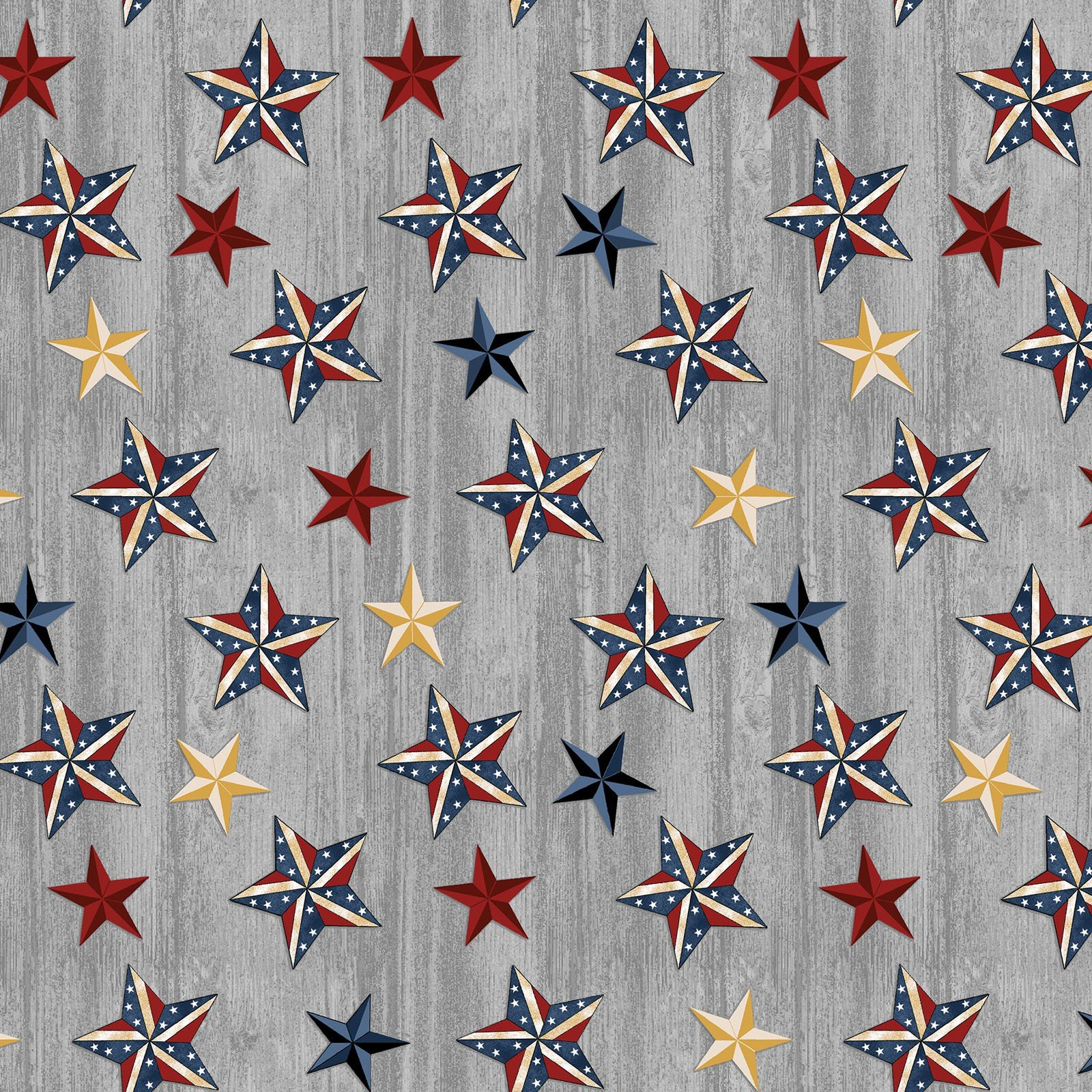 Grey Stars on Wood - American Rustic - BEN6333-11