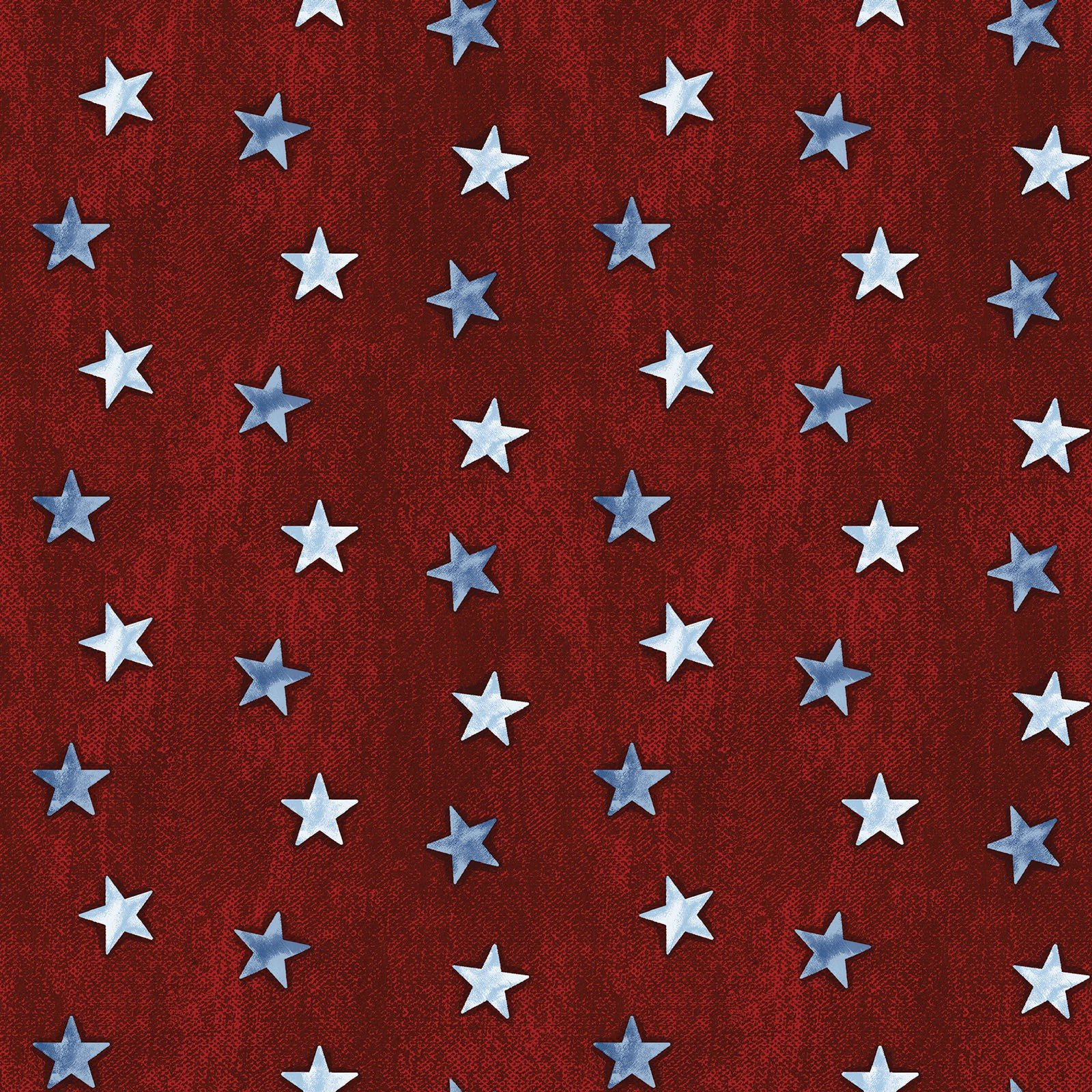 Red Stars on Denim - American Rustic - BEN6341-10