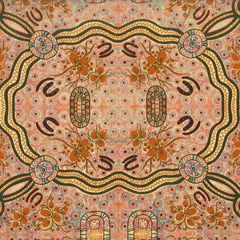 Ecru Bush Food -BFE -  Aboriginals by M & S Textiles Australia