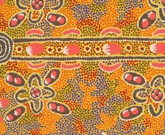 Bush Tomato Gold by Audrey Martin Napanangka - Aboriginals by M & S Textiles Australia