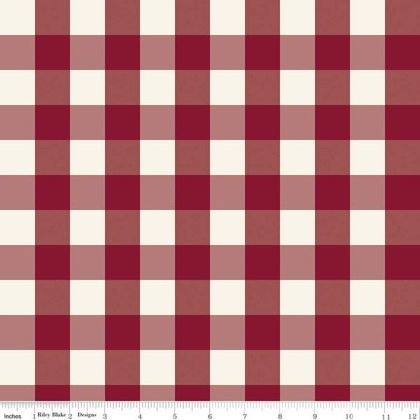 Red Check - Winterberry by Mind's Eye for Riley Blake - Winterberry by Riley Blake - C8448-RED