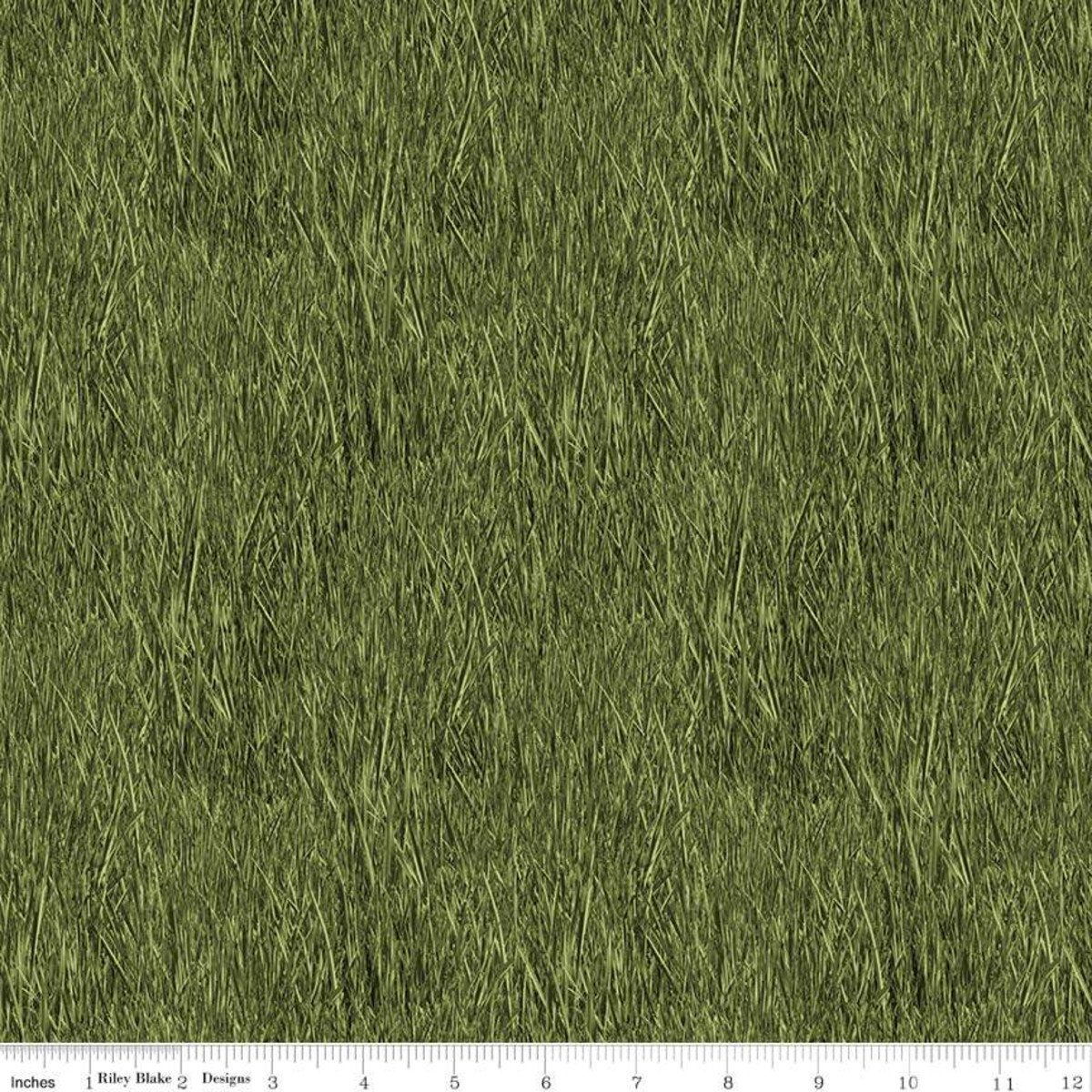 Green Reeds - Fish and Fowl - C8730-GREEN