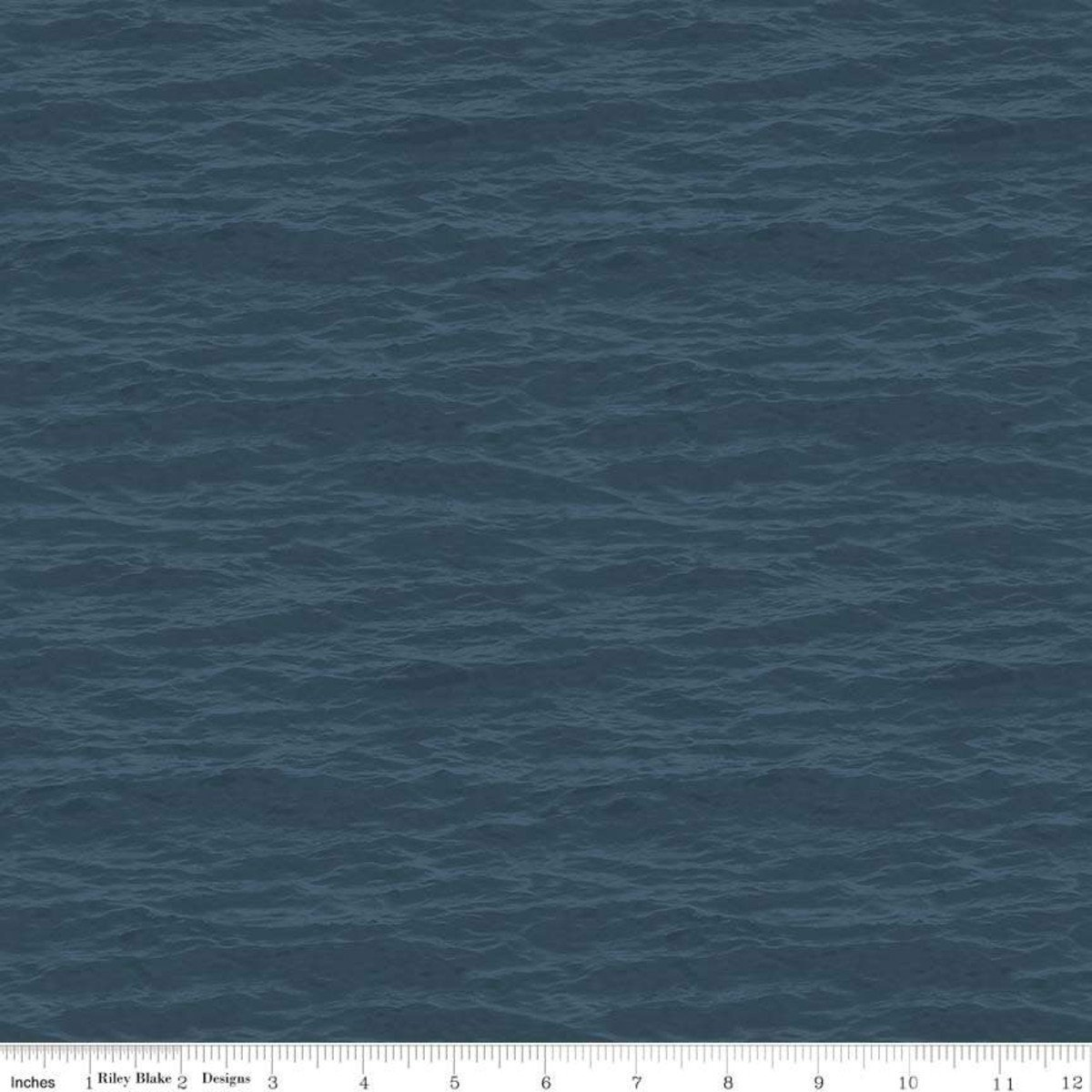 Dark Teal Water - Fish and Fowl - C8731-DKTEAL