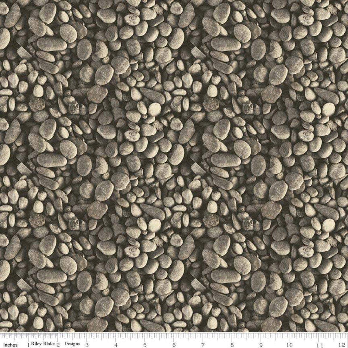 Brown Pebbles - Fish and Fowl - C8732-BROWN