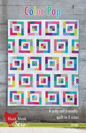 Color Pop Quilt Kit featuring Tula Pink All Stars Pom Noms and Stripes