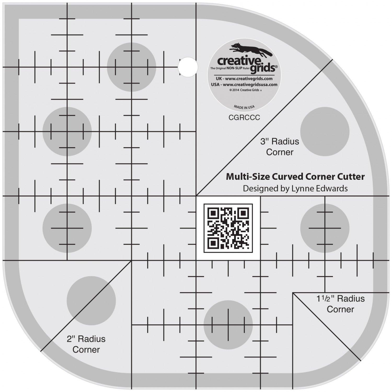 Ruler CGRCCC Curved Corner Cutter Quilt Ruler