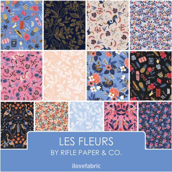2 Yards Cotton + Steel - Les Fleur - Canvas Miscellaneous