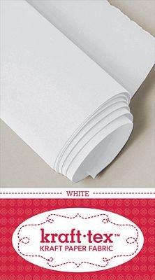 White Kraft Tex Paper Fabric  - 19.5 x 1.5 yd -  CT20244