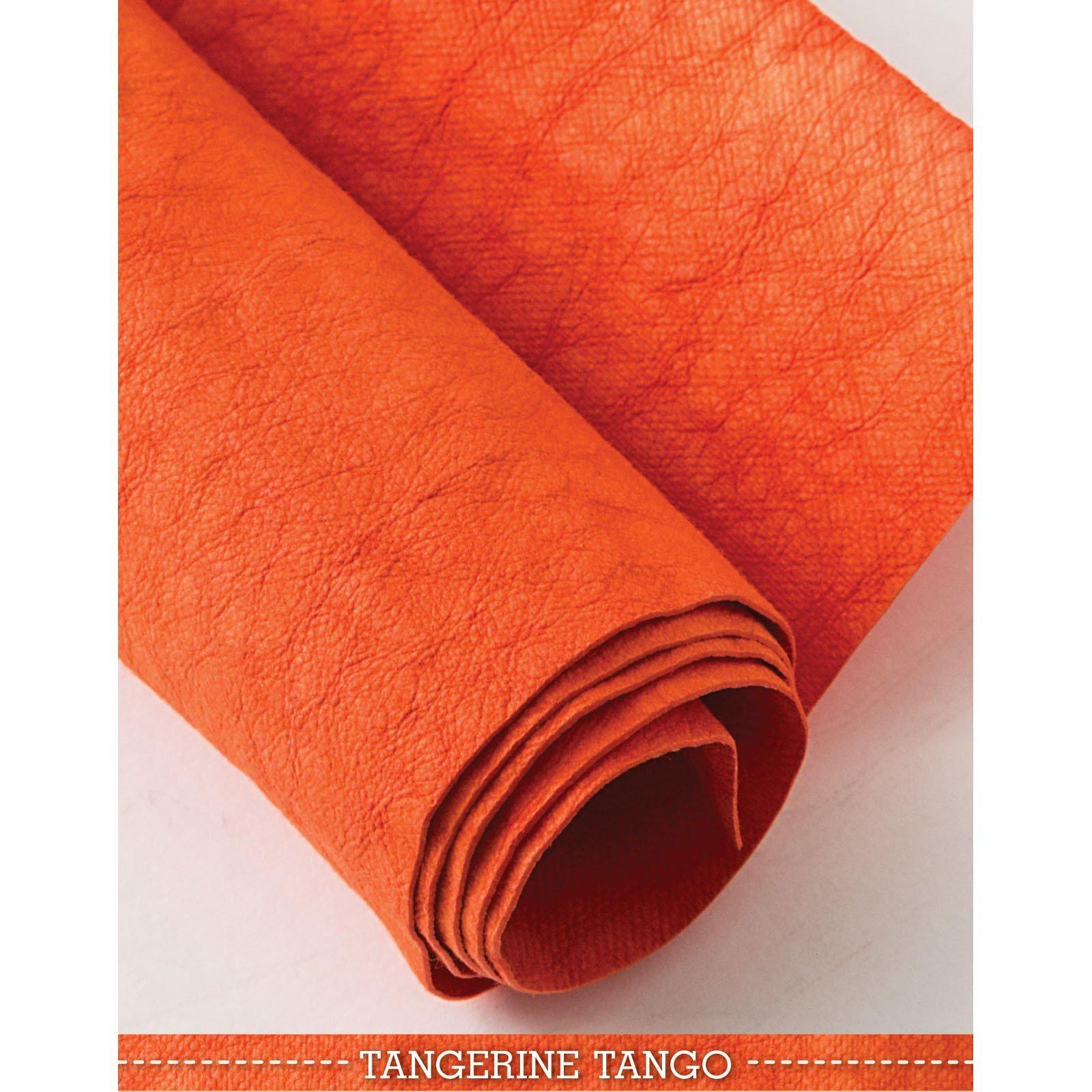 Tangerine Tango Kraft-Tex Designer Paper Fabric - approx. 18 x 28 - prewashed - CTP20386