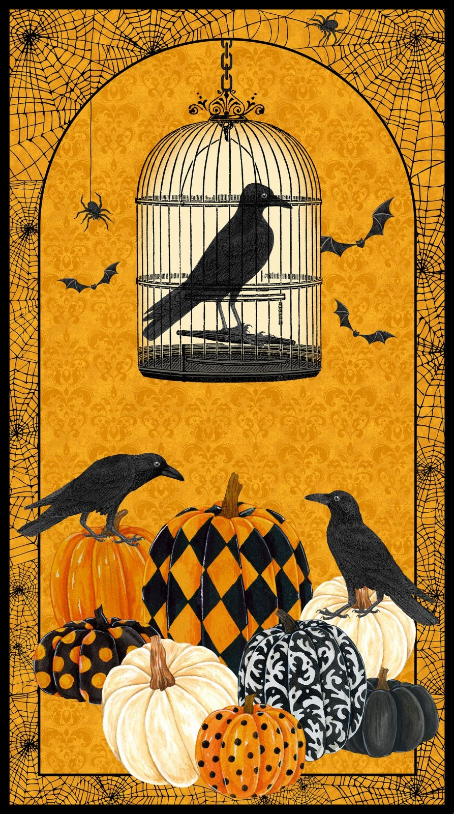 Crow and Pumpkin Panel - Raven's Claw - DP22859 54