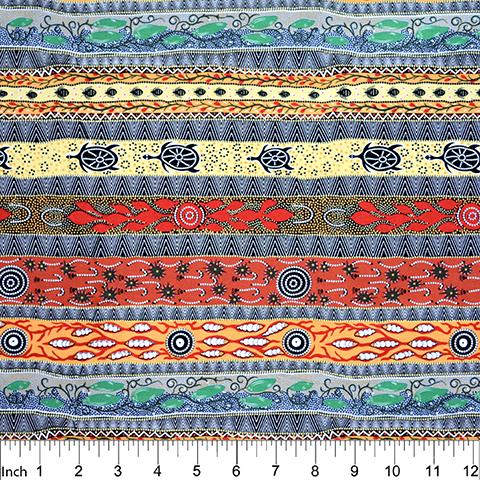 Black - Dreaming in One - Aboriginals by M & S Textiles Austrailia - DROB