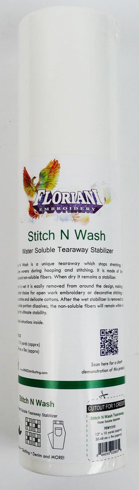 STITCH N WASH - 12 X 10 YDS - Floriani Stabilizer - FSW1210