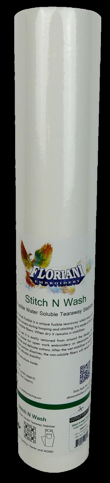 STITCH N WASH FUSBLE - 15x10YDS - Floriani Stabilizer - FSWF1510