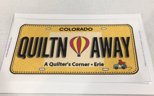 QUILTN AWAY Row by Row License FabricPlate