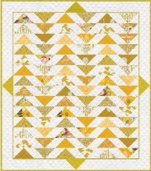 Plenum - No. 5 Gold Leaf Quilt Kit 57 1/2' x 64