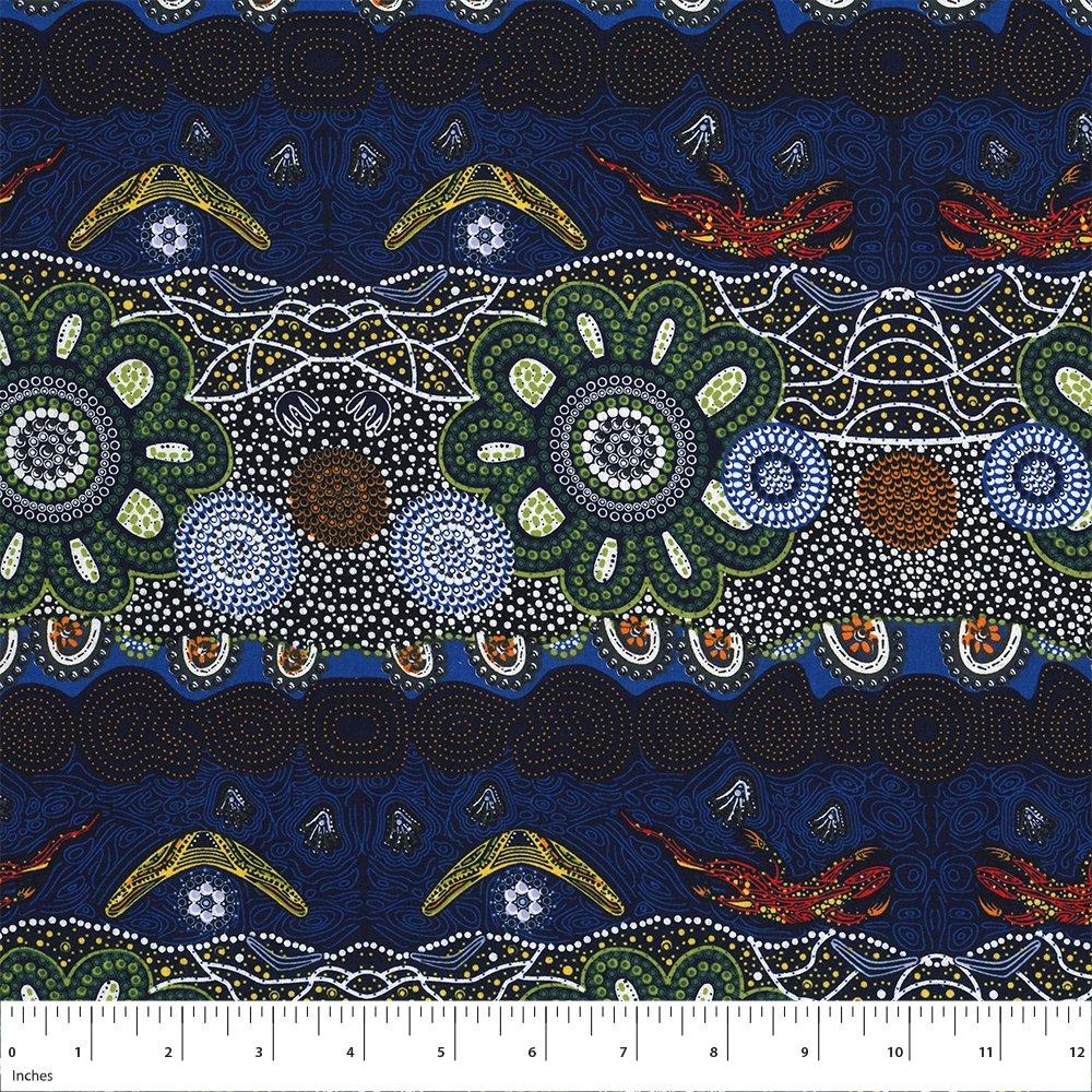 Green - Home Country - Aboriginals by M & S Textiles Austrailia - HCGR