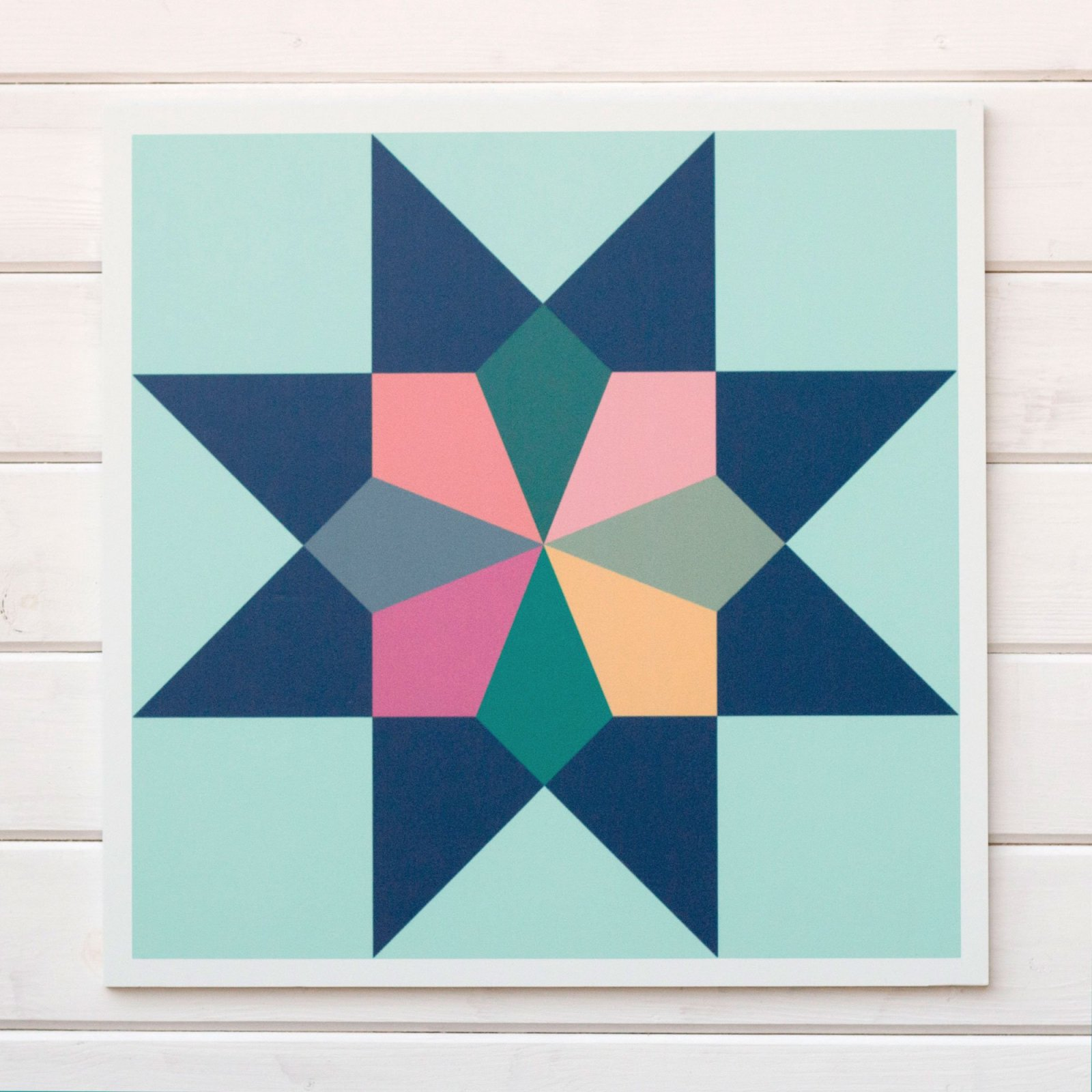 Barn Quilt Block - Heirloom - Multi color 23 square