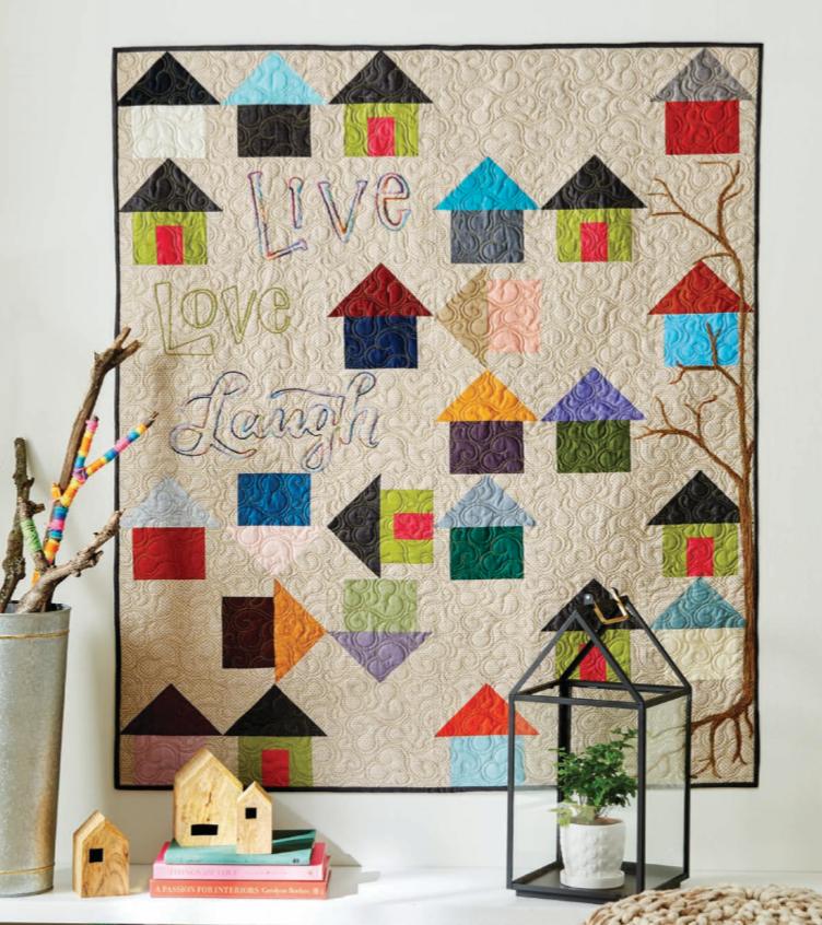 House Party Quilt Kit - Quilt Sampler - Multi Color