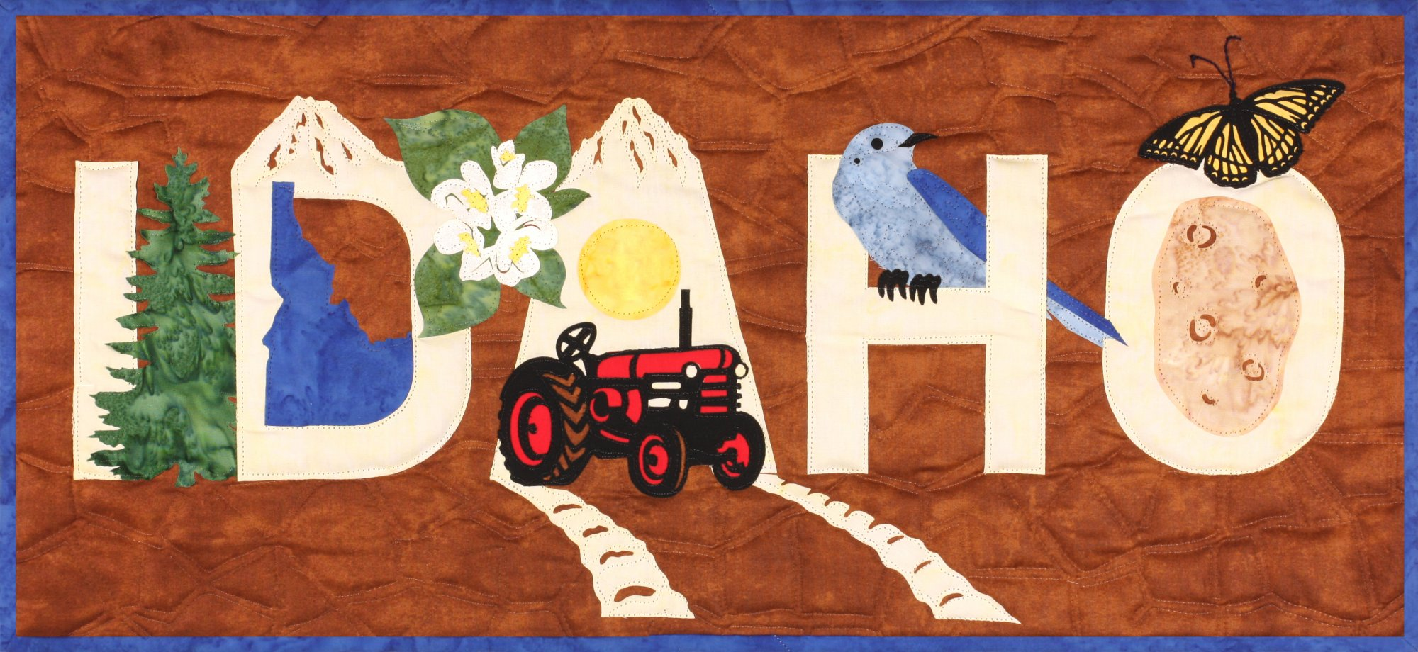 Idaho Laser cut applique kit includes front and binding - SP-IDHO-1