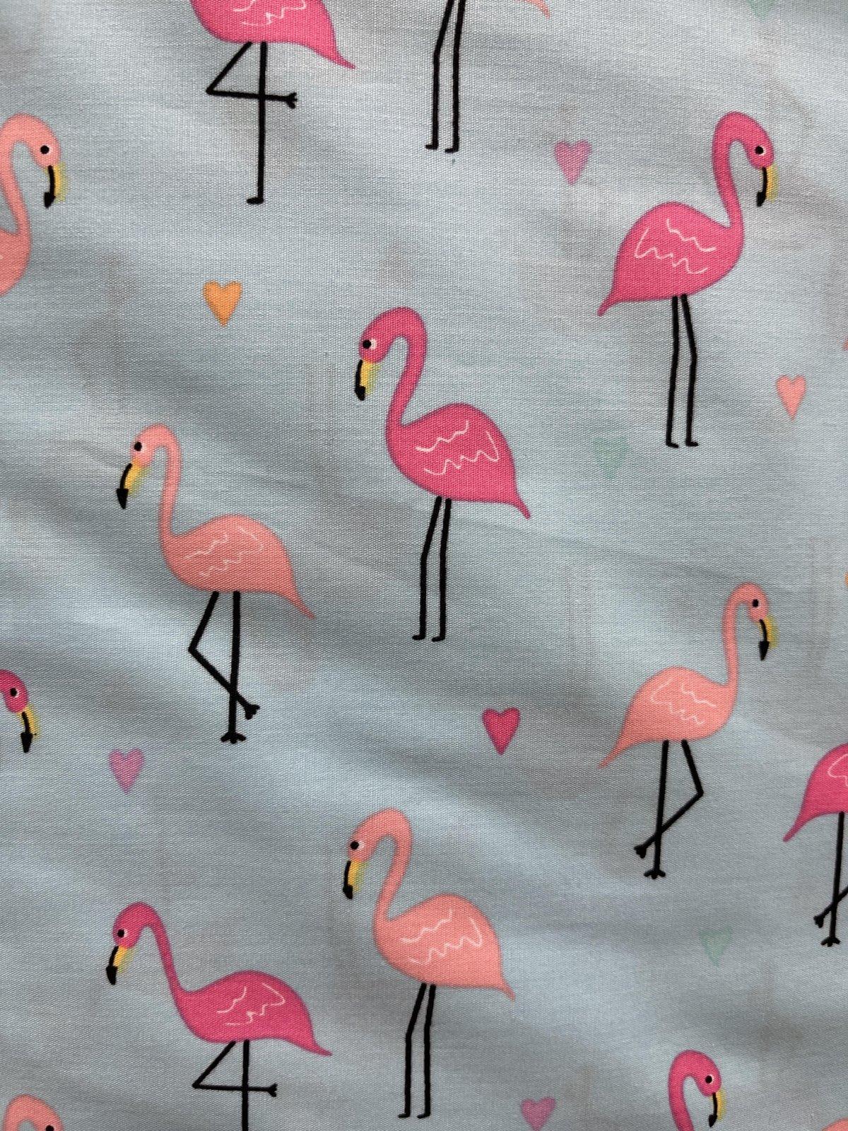 Turquoise Flamingos