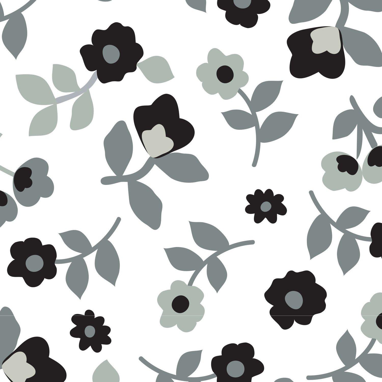 Minky Kashmir - White/Black - 01079