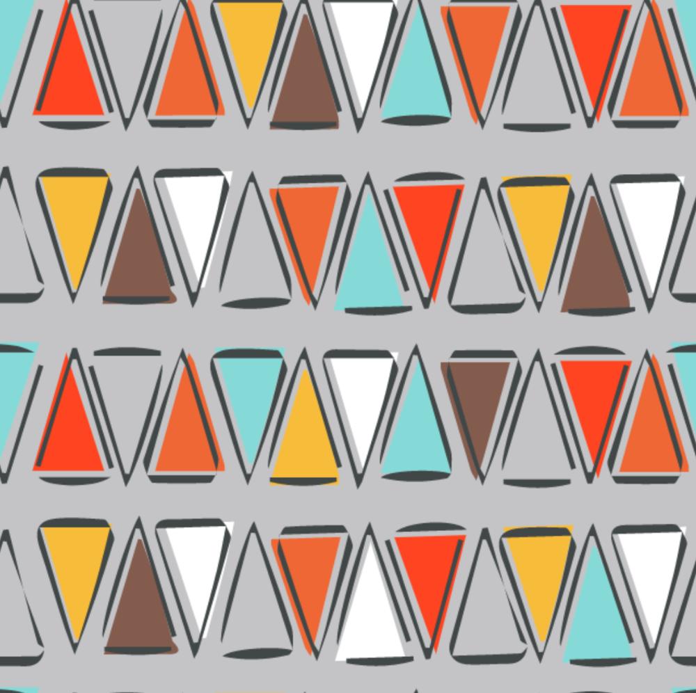 Kodiak Triangle Gray by Michael Miller - SMZ7679-Gray-R