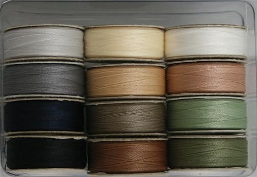 Neutrals - 60 wt. 2-ply polyester - SuperBOBs - (L-style, Dozen) - L-12-SET2