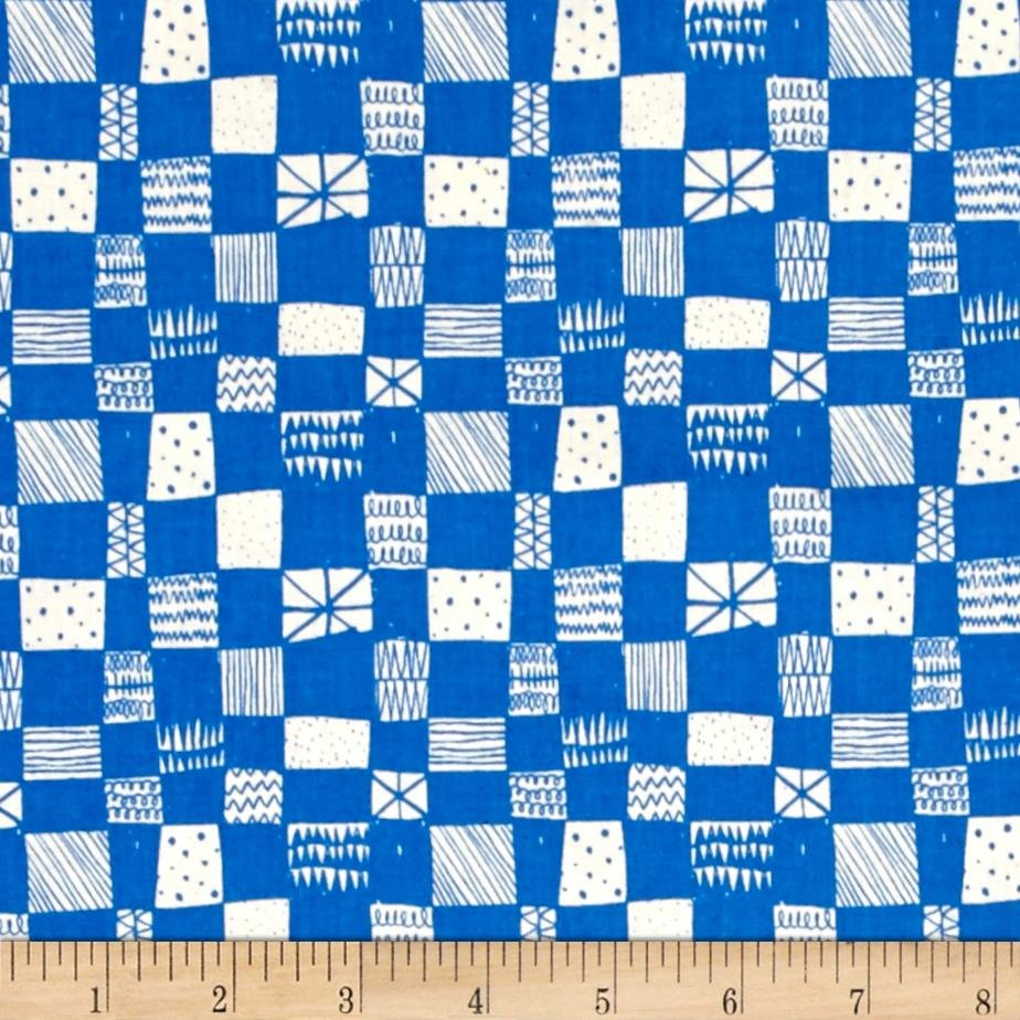 Print Shop - Alexia Marcelle Abegg - Grid - Blue - Cotton & Steel - 4037 002