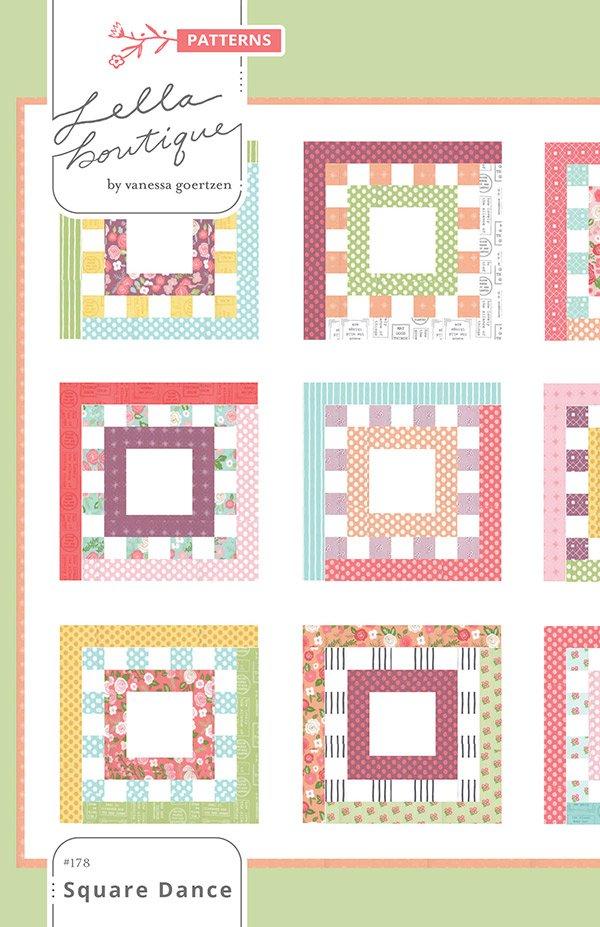 Square Dance Pattern by Lella Boutique - Lollipop Garden - LB 178G