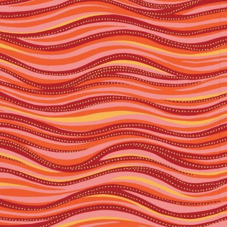 Dark Coral Metallic - Wave - Laurel Burch Basics - Y1331-40M