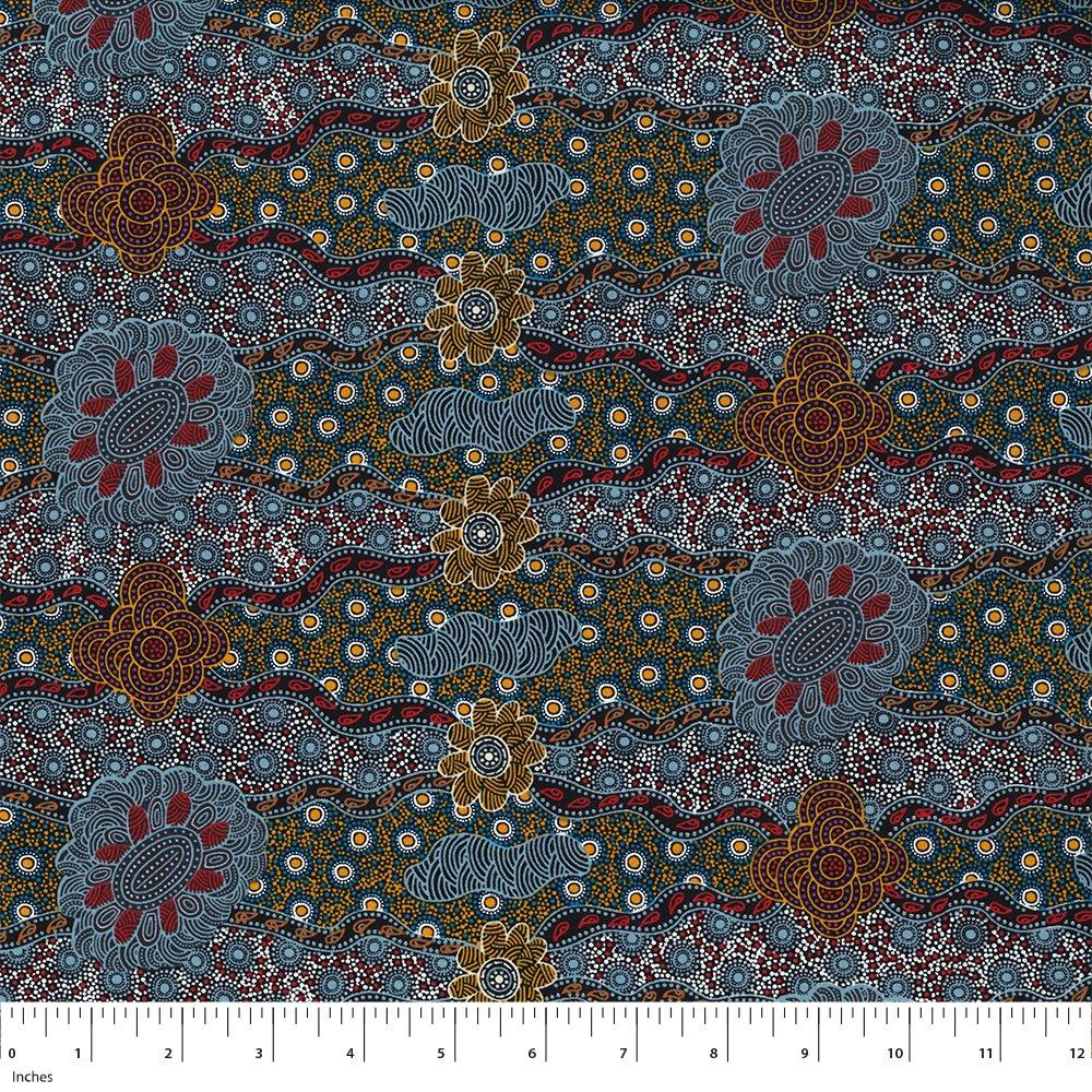 Ash - Lillup Dreaming - Aboriginals by M & S Textiles Austrailia - LDRA
