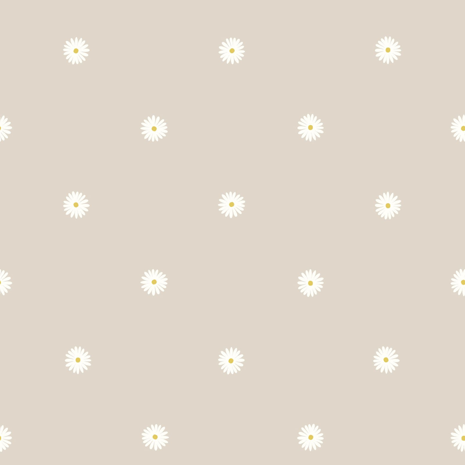 Daisy on Dark Cream - Jolly Spring - by Lewis & Irene - LEIA343-1