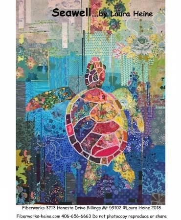 Seawell Sea Turtle Collage Pattern by Laura Heine  # LHFWSEA