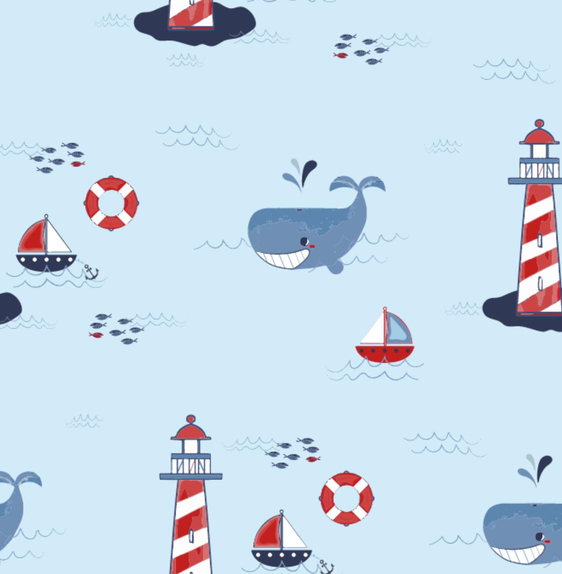 Minky Lighthouse - Lt Blue - 1166
