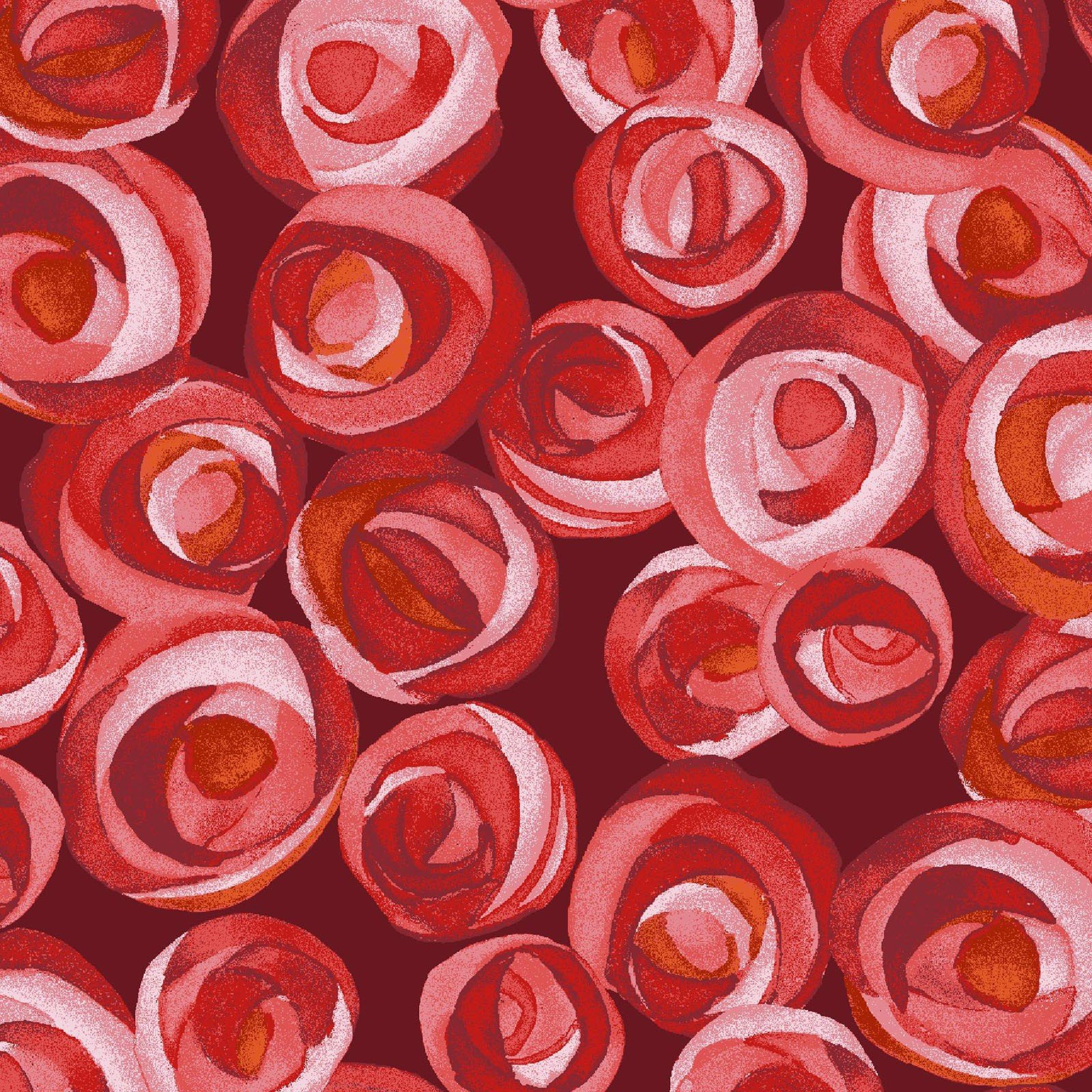 Maroon Bevy of Roses - Masquica by Kathleen Deggendorfer - MASD9202-M