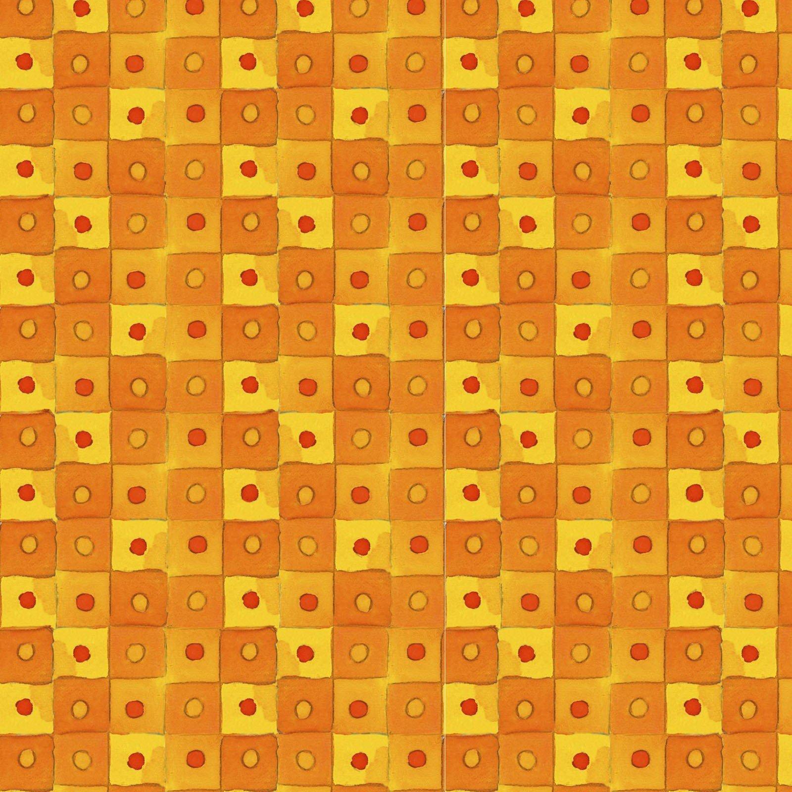 Orange Checkerboard - Masquica by Kathleen Deggendorfer - MASD9204-O