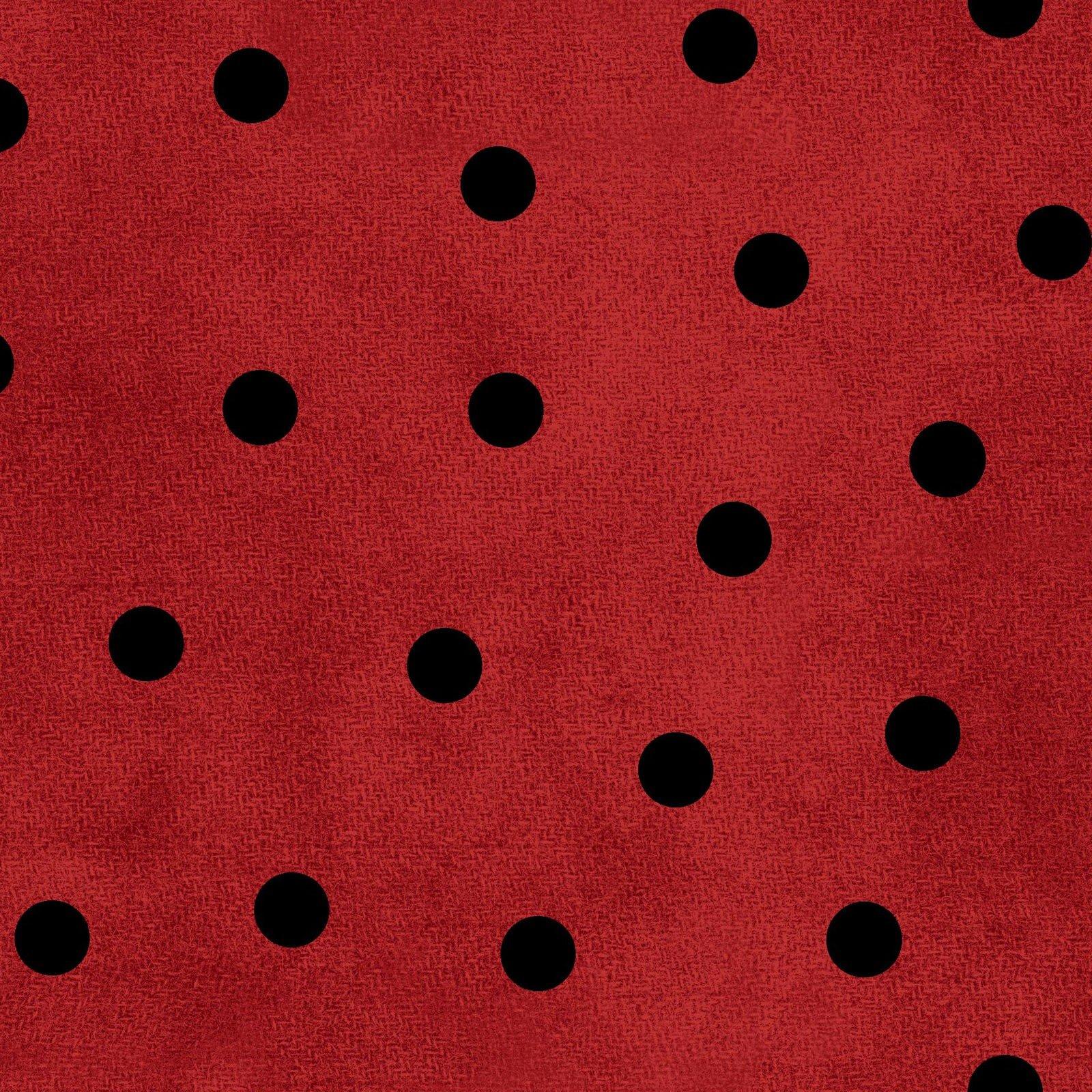 Red/Black - Big Dots - Most Wonderful Time Flannel - MASF9214-RJ