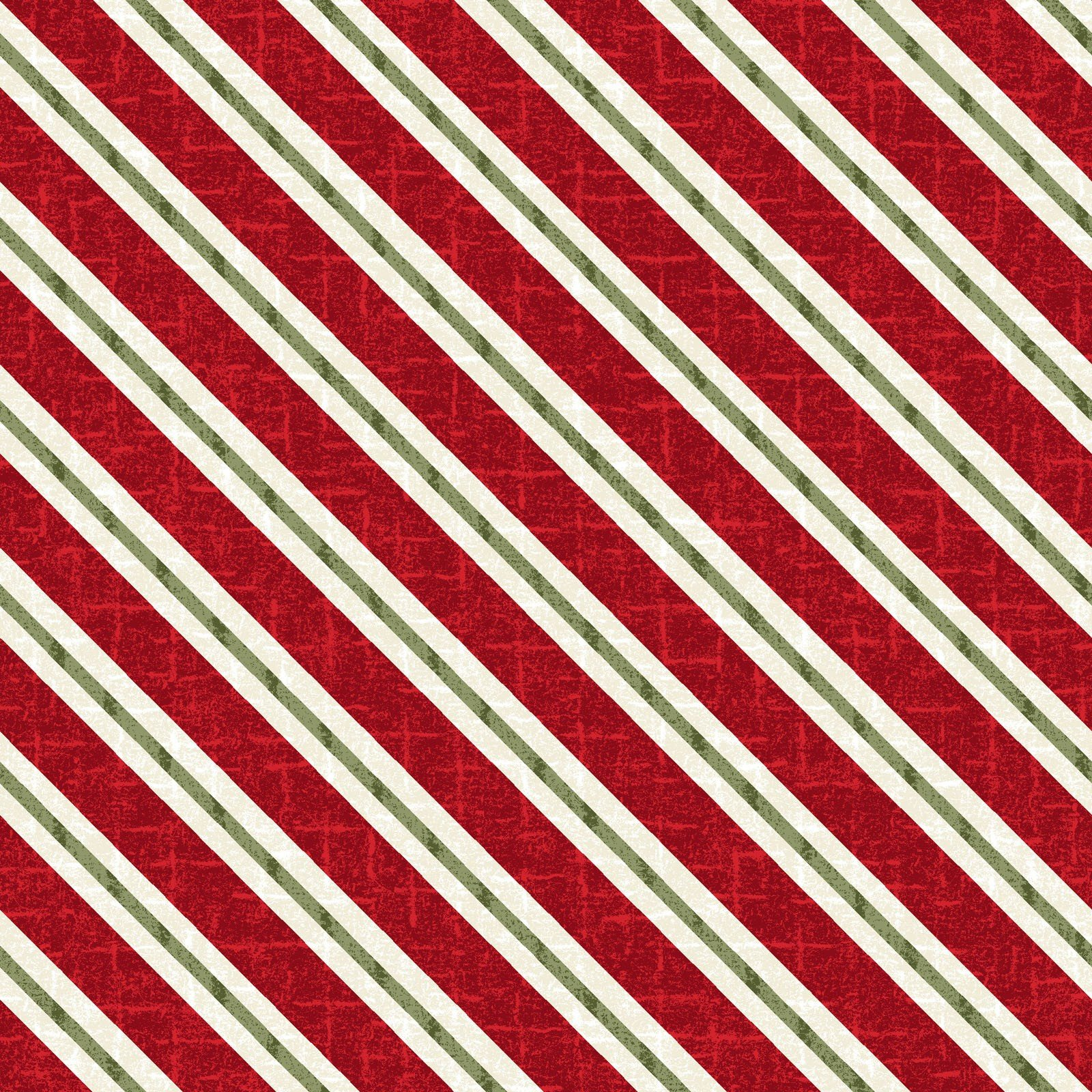 Red Candy Cane Stripe - Snowdays Flannel by Bonnie Sullivan - MASF9937-R