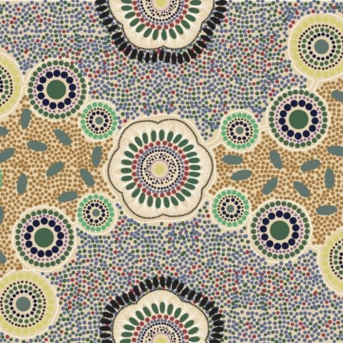 Ecru Meeting Places - MPLE - Aboriginals by M & S Textiles Australia