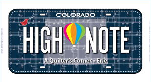 High Note FabricPlate License Plate