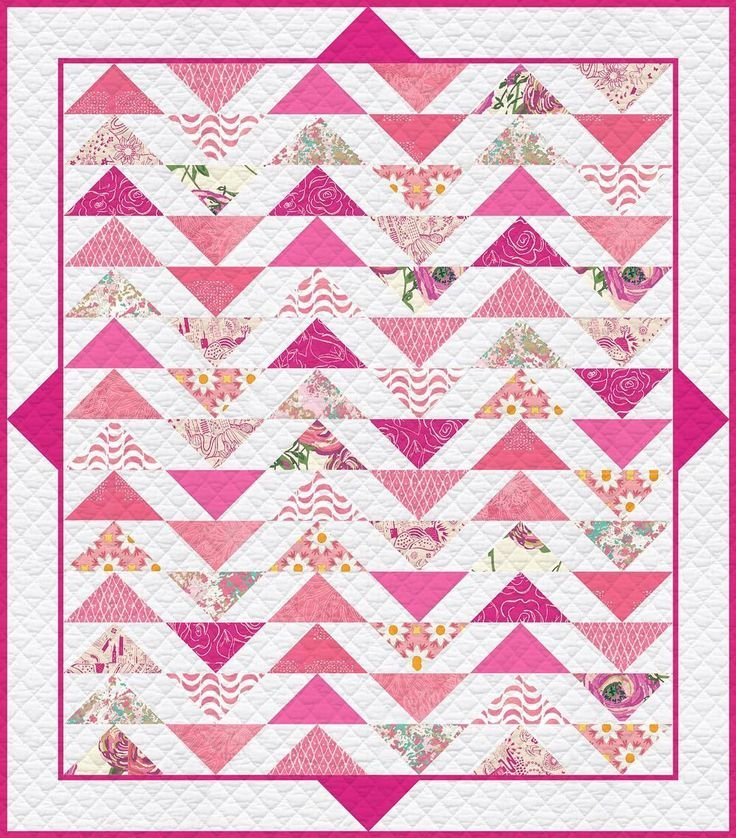 Plenum - No. 2 Life is Pink Quilt Kit 57 1/2' x 64