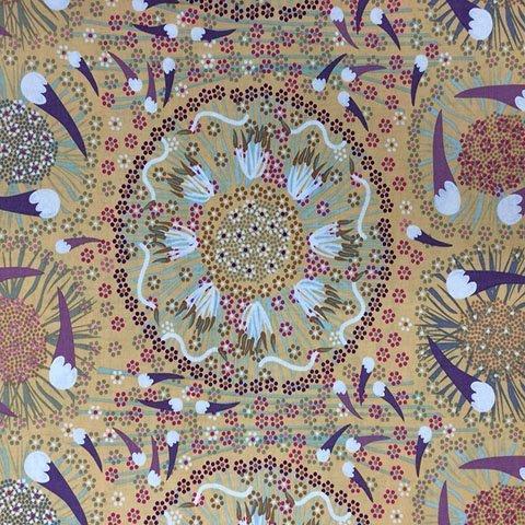 Gold - PLUM & BUSH BANANA GOLD - PBBG - Aboriginals by M & S Textiles Australia