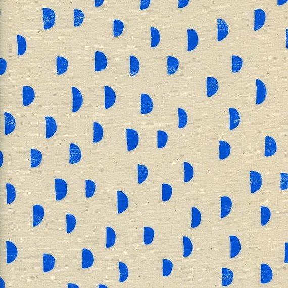 Print Shop - Alexia Marcelle Abegg - Moons - Blue - Cotton & Steel - 4035 003